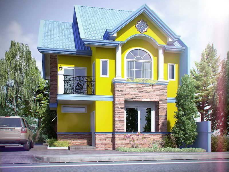 beispiele f r fassadenfarben architektur zenideen. Black Bedroom Furniture Sets. Home Design Ideas