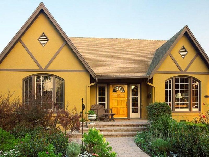 Fassade Gelb beispiele für fassadenfarben architektur zenideen