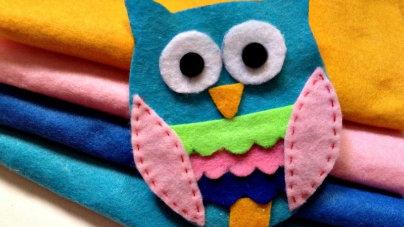 Weiche Kinderbuch aus Filz gebastelt - DIY Ideen
