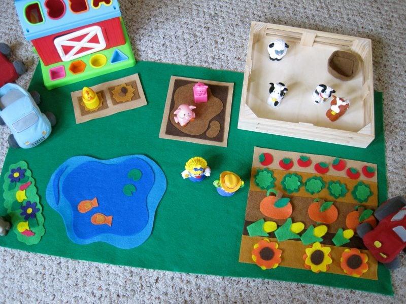 Das beste Material für Kinder Spielzeuge ist Filz - warum schauen Sie hier an