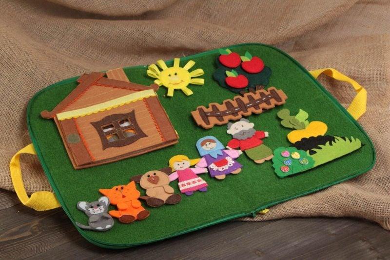 FIlz Spielzeuge für Kinder selber basteln - DIY Projekte und Ideen