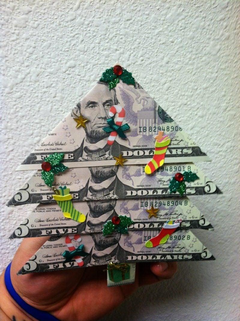 geldgeschenke foldin money christmas tree weihnachten