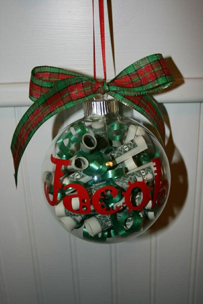 geldgeschenke christbaumkugel