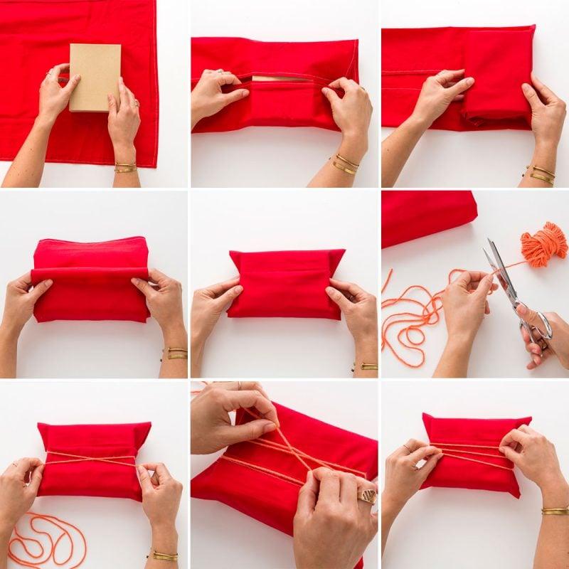 Geschenke schön verpacken mit Stoff