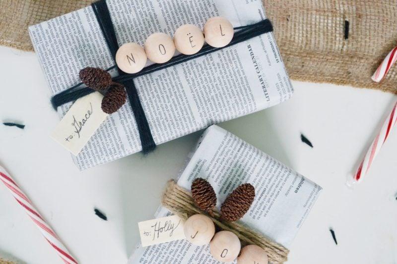 Kostengünstig Geschenk schön verpacken - mit Zeitungspapier!