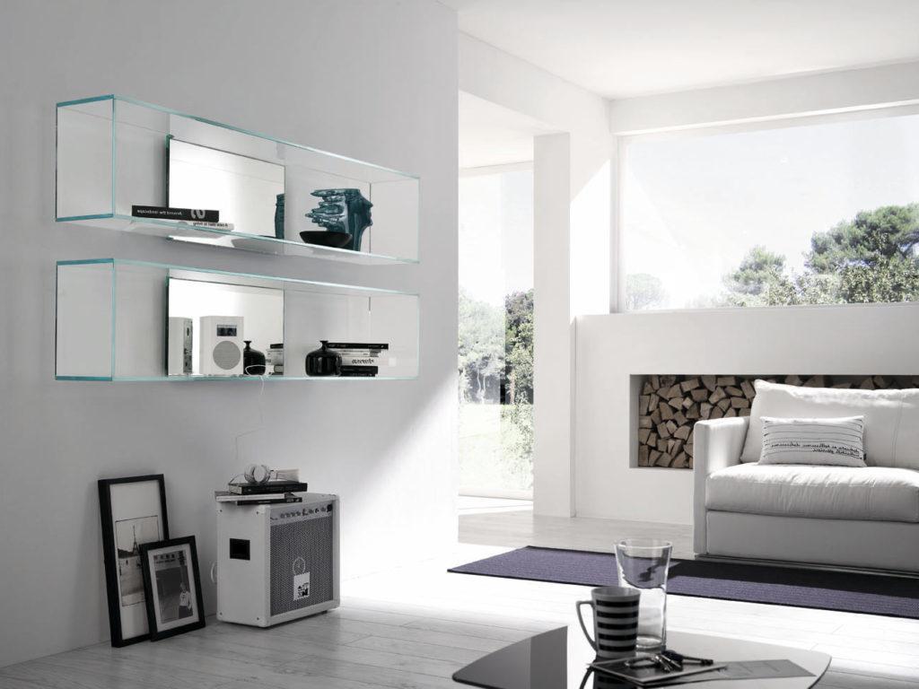 39 ideen f r glasregale f r jede zimmergestaltung innendesign zenideen. Black Bedroom Furniture Sets. Home Design Ideas