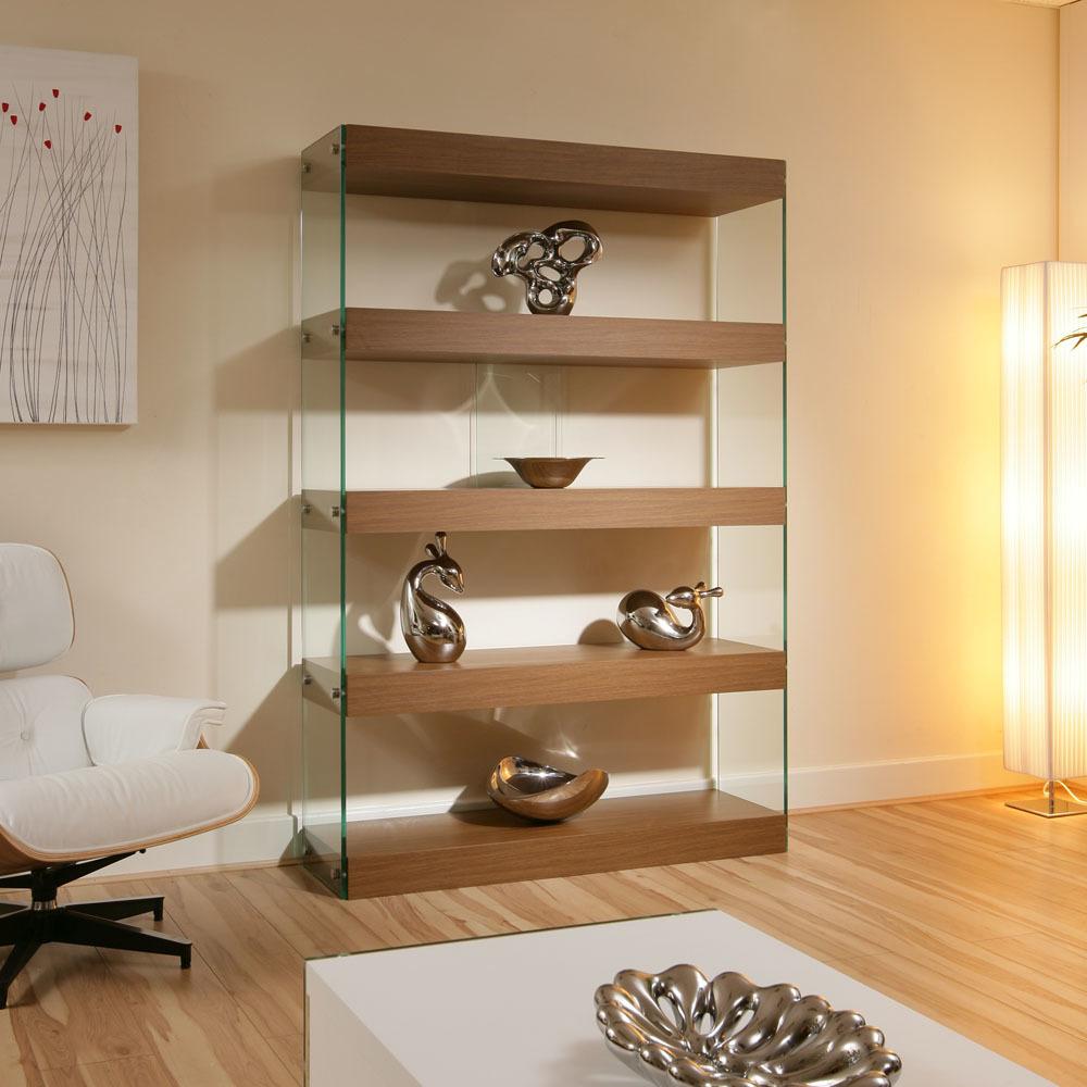 Glasregale mit Holz kombinieren
