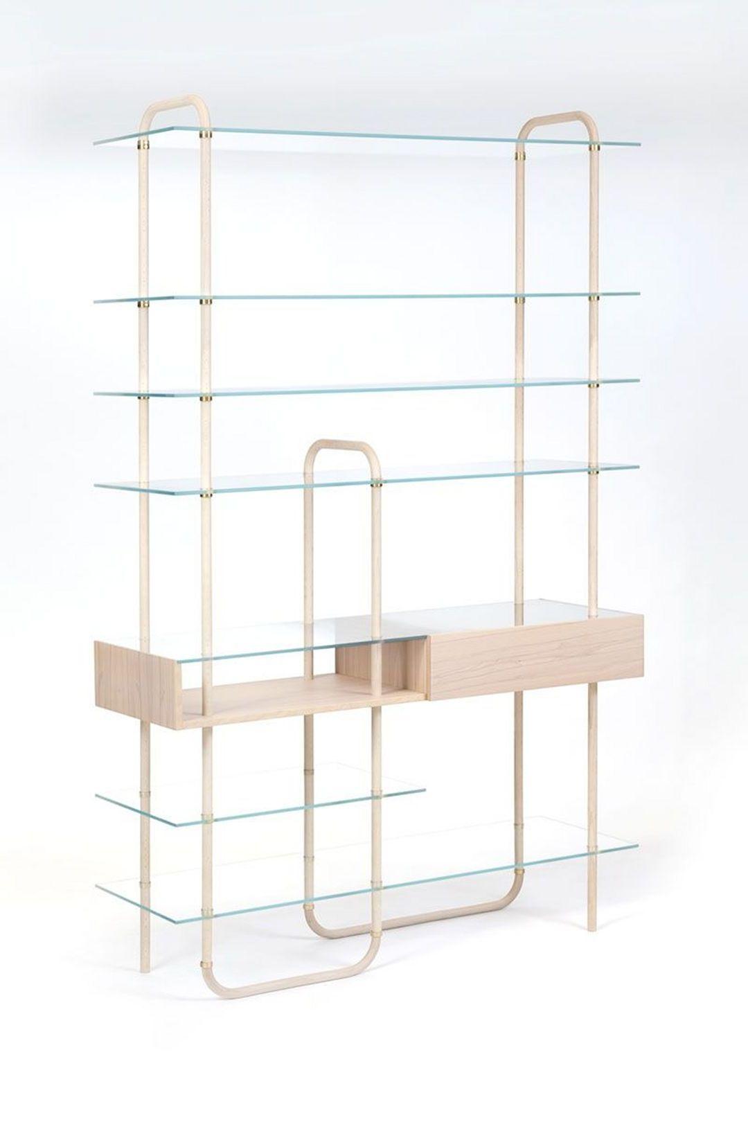 Glasregale mit Bambus kombinieren