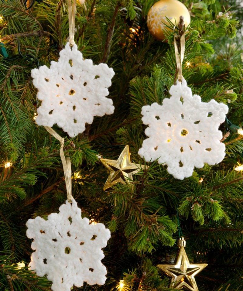 Häkeln für Weihnachten - Schneeflocken als Christbaumschmuck