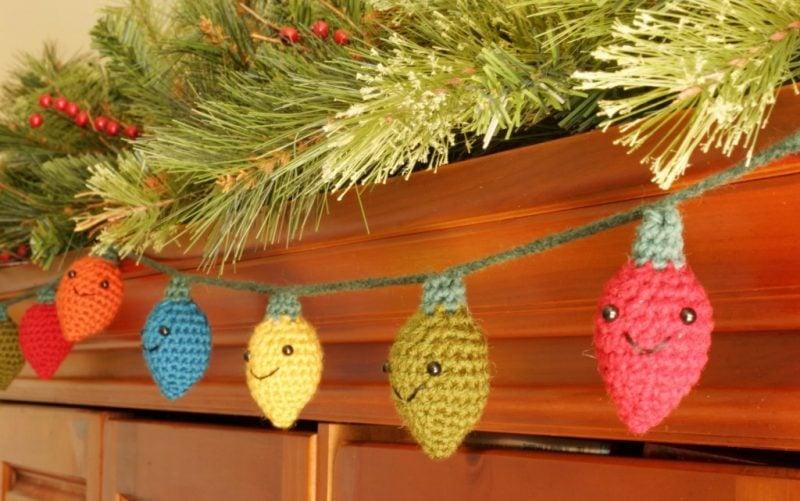Häkeln für Weihnachten Lichtketten