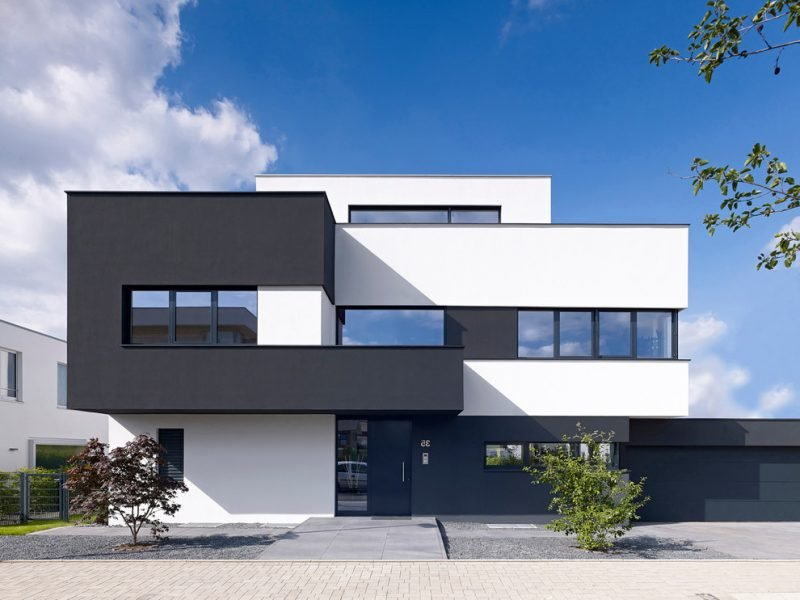 Hausbau modern Fassade