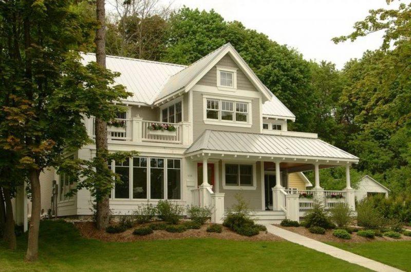 Hausfassade in Weiß