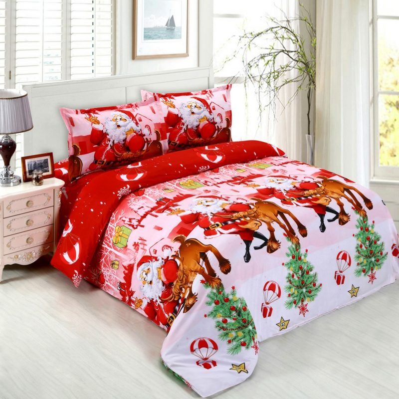 warme Bettwäsche zu Weihnachten herrlicher Look