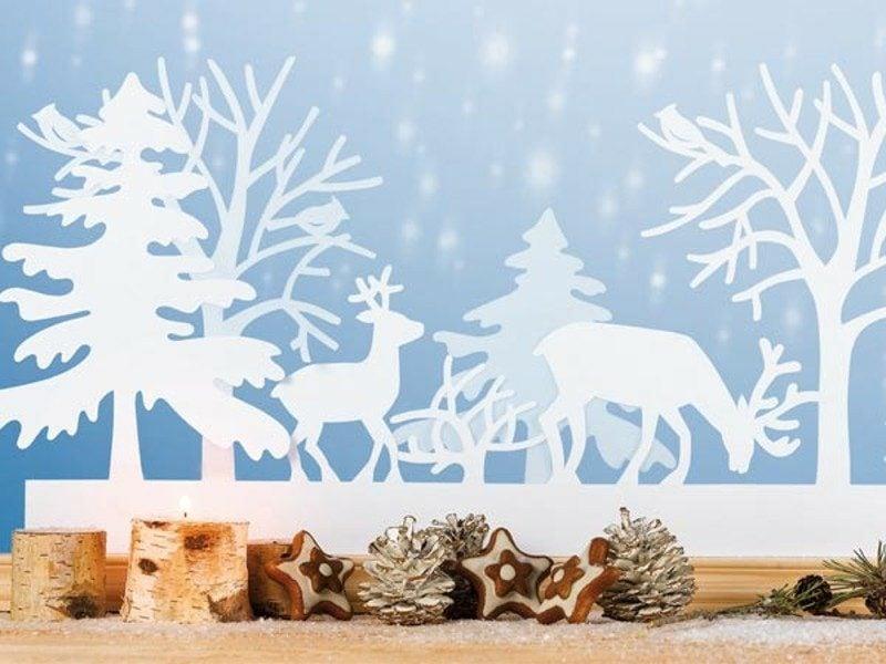 Fensterbild Weihnachten zauberhafter Look