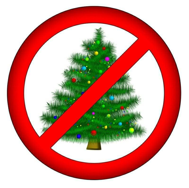 sign: no christmas for you!