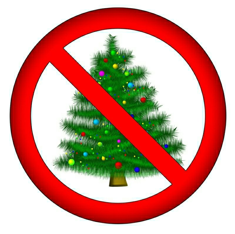 sign: no christmas for you!