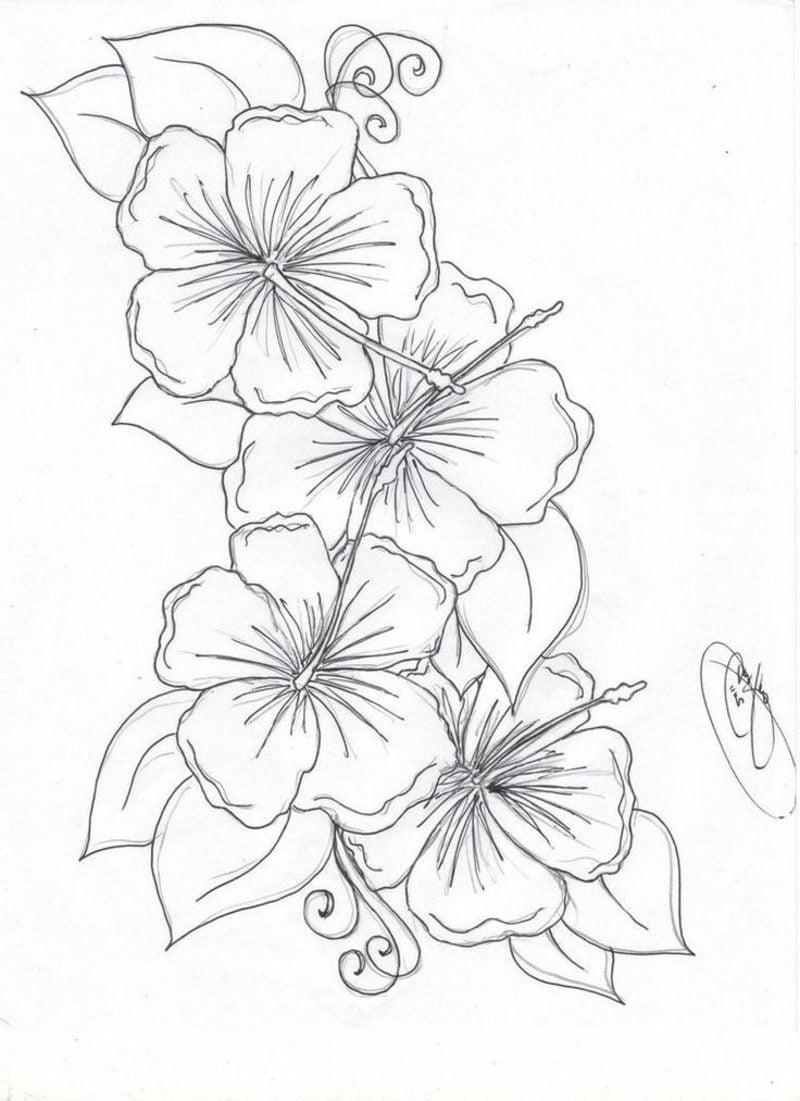 Blumenranken Tattoo Vorlage