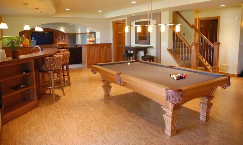 korkboden billiards room silver birch