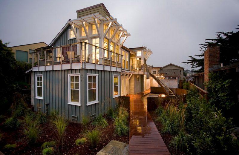 Kreative Fassadenfarbe