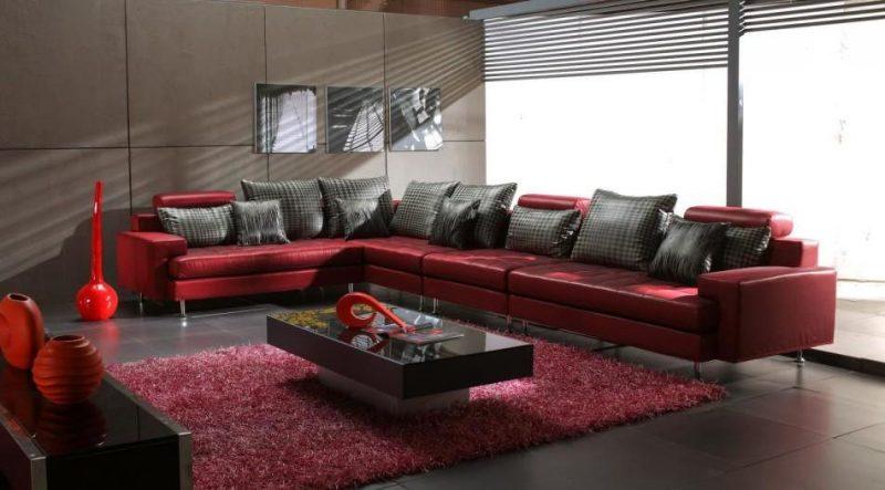 Luxuriöse Ledermöbel im Wohnzimmer!