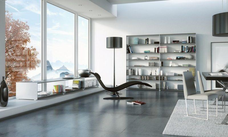 Metallregal im Wohnzimmer
