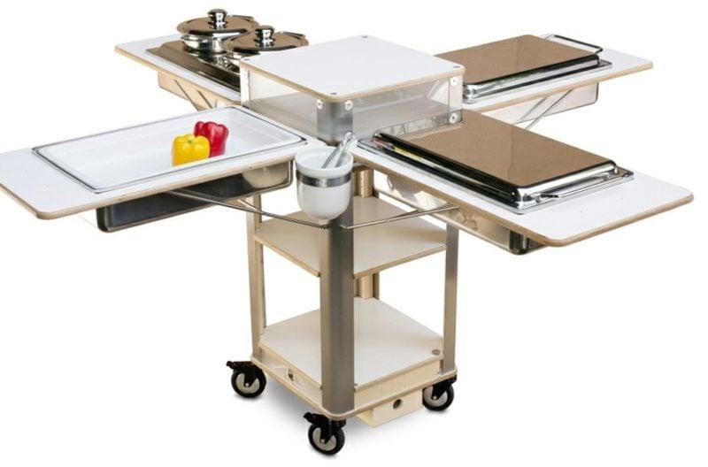 Küchensysteme mobile küche 22 kreative ideen für mehr komfort und flexibilität