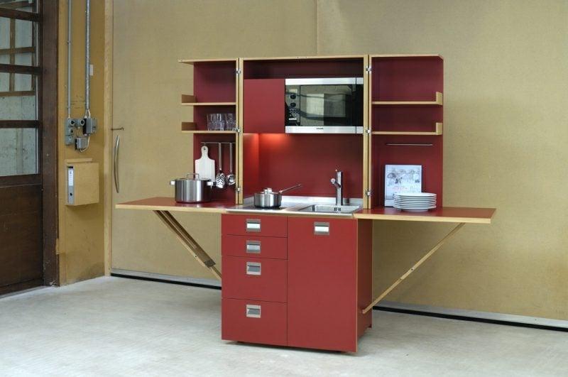 mobile Küche im Rot herrliches Design