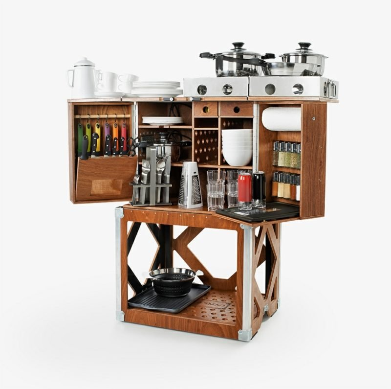 Multifunktionale Möbel mobile küche 22 kreative ideen für mehr komfort und flexibilität