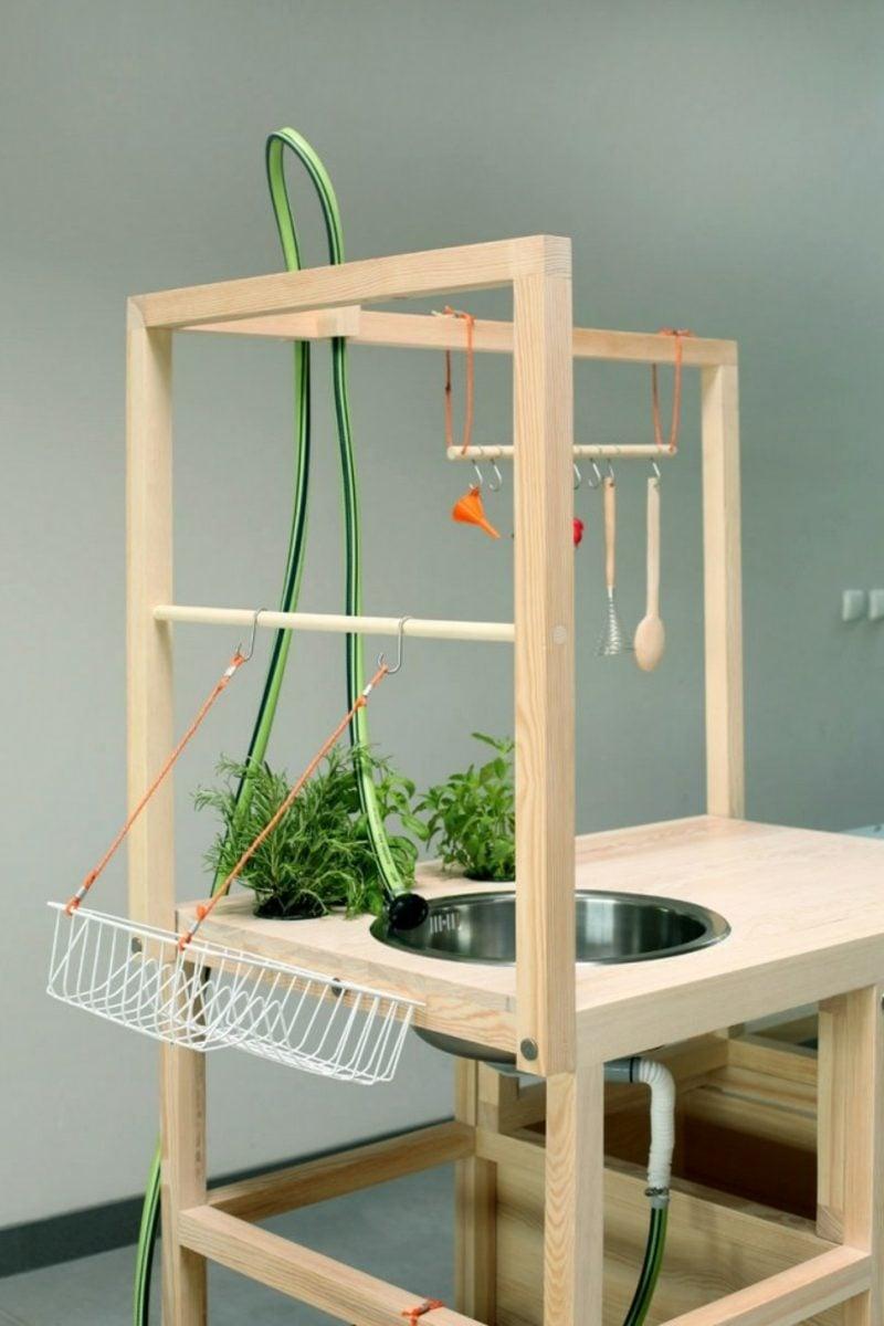 mobile Küche auf Rollen freistehend moderner Look