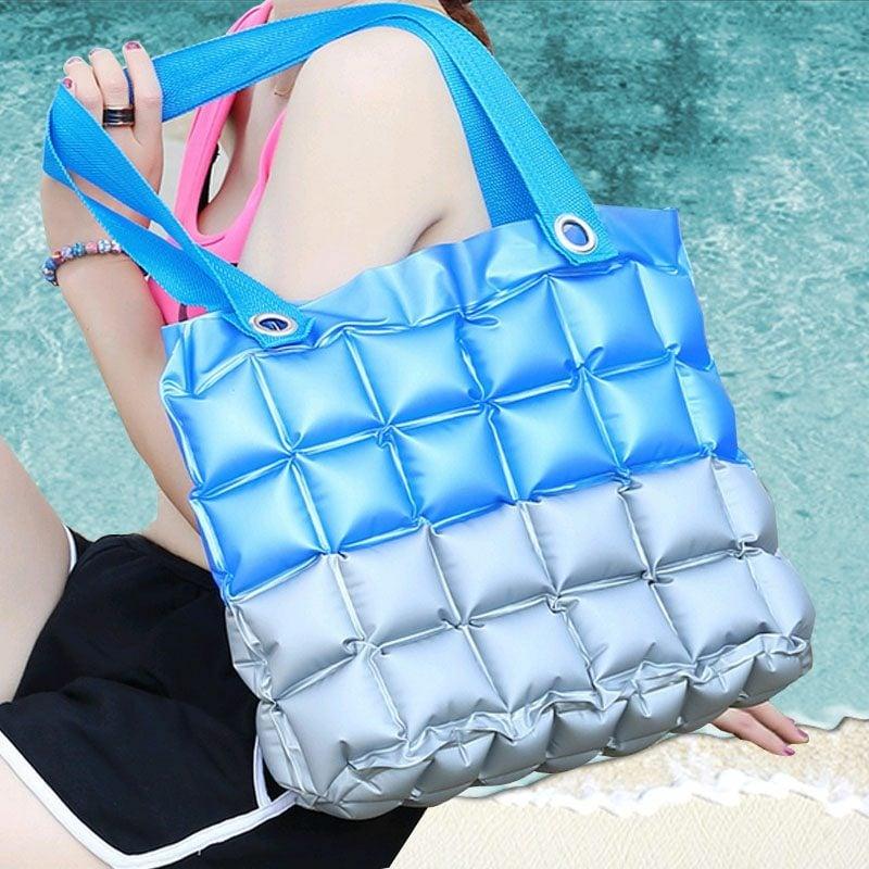 Strandtasche nähen moderne Variante in zwei Farben