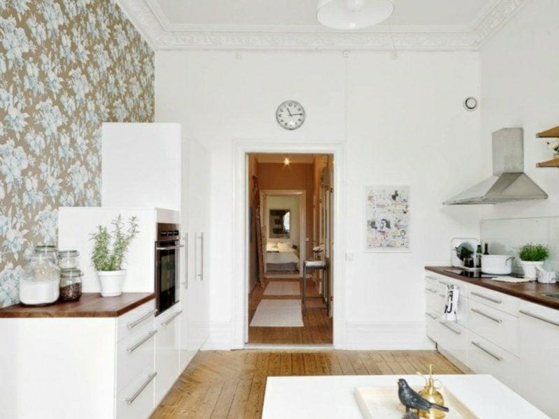 skandinavische Möbel Küche neutrale Farbgestaltung