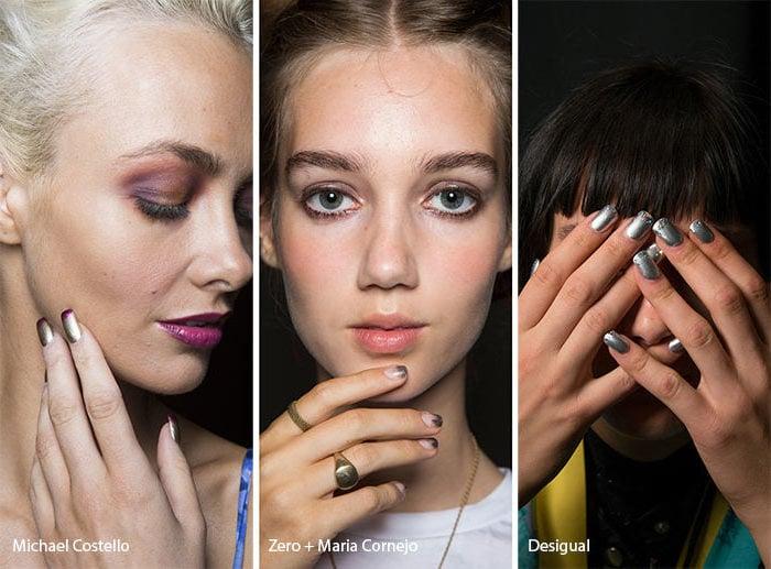 Nagelmotive - metallische Nägel sind Trend Nageldesign 2017