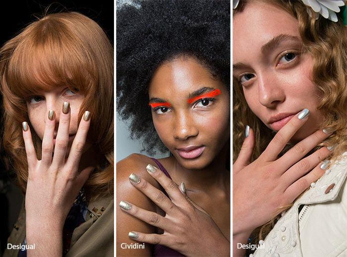 Nagelmotive - metallische Nägel sind Trend 2017