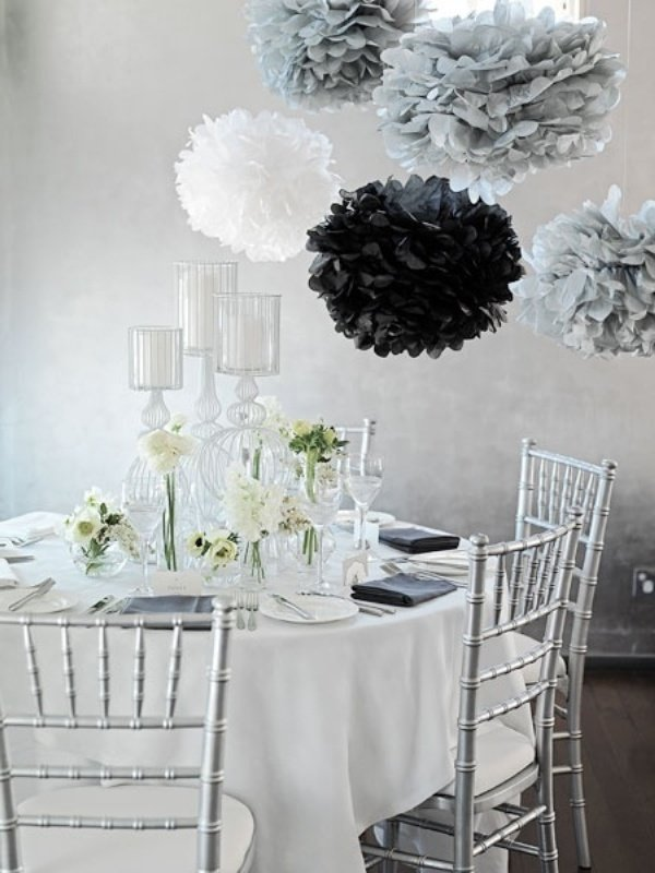 Pompons als Dekoration