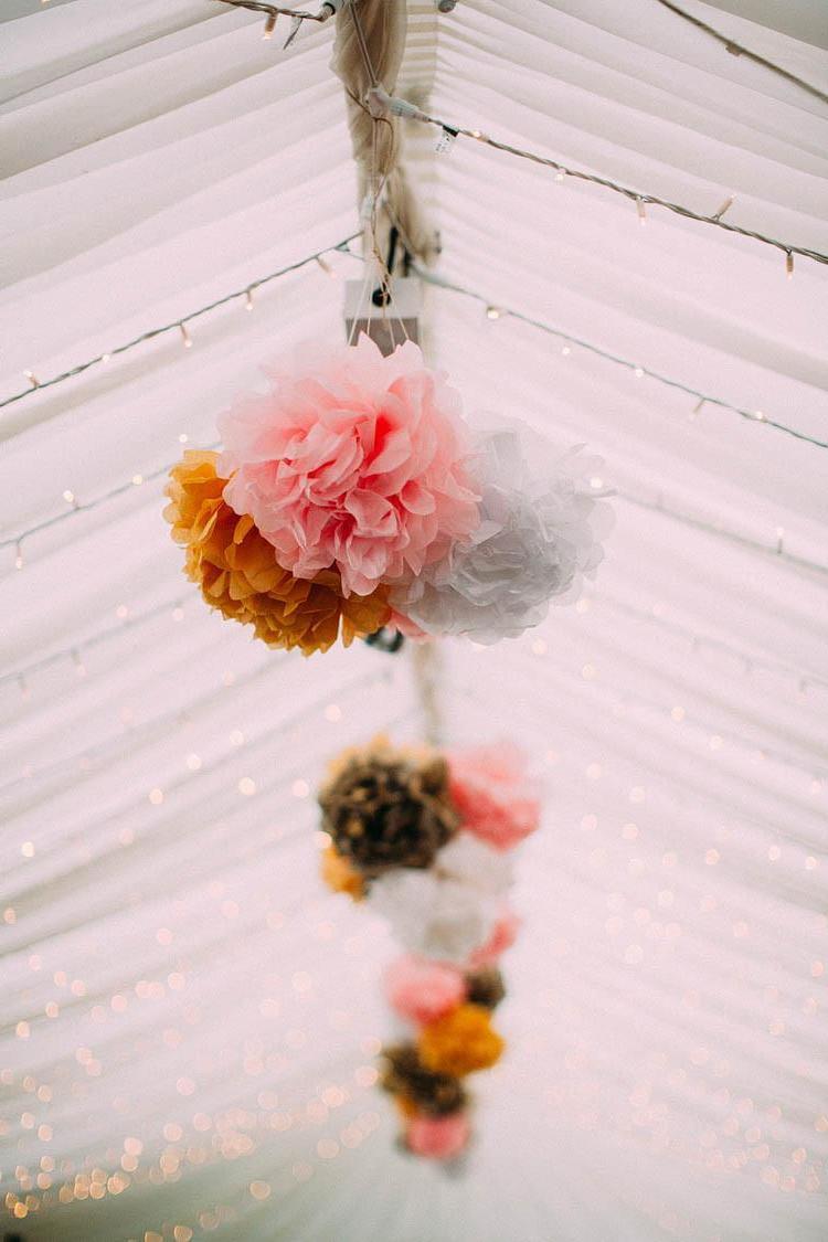 Pompons für die Hochzeit