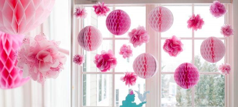 Pompons in Rosa