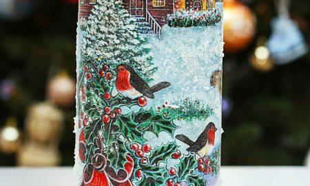 Serviettentechnik Anleitung - Dekorieren Sie Sektflasche für Silvesterparty