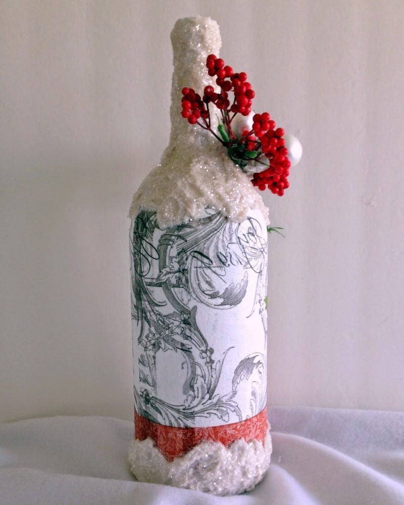 Serviettentechnik Anleitung - DIY Weinflasche ist das beste Geschenk