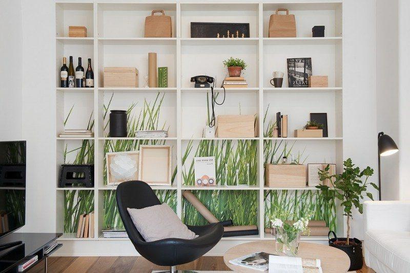 skandinavische Möbel interessantes Regalsystem als Akzent im Interieur