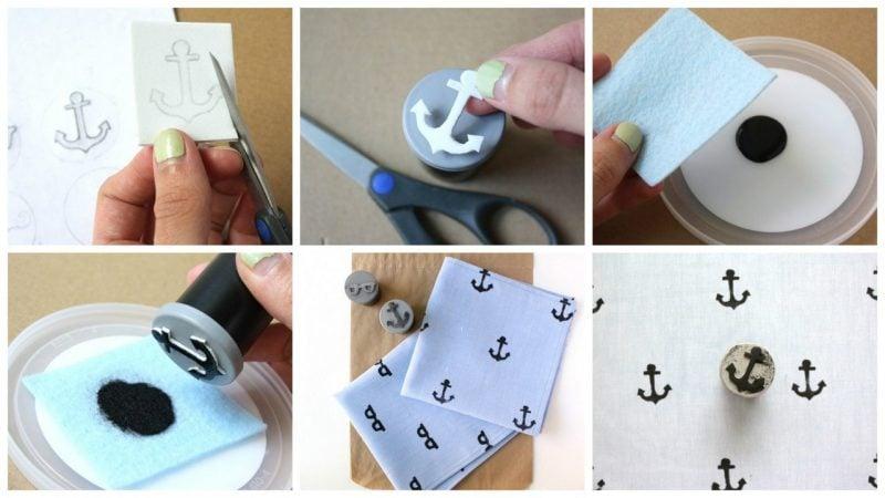 DIY Stempel selber machen auf Kleidung