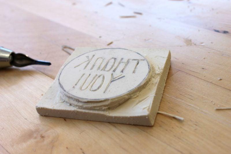 Stempel selber machen DIY Anleitung Stempel schnitzen
