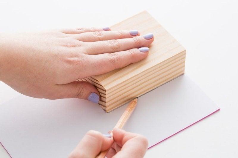 Stempel selber machen DIY Anleitung auf Stoff