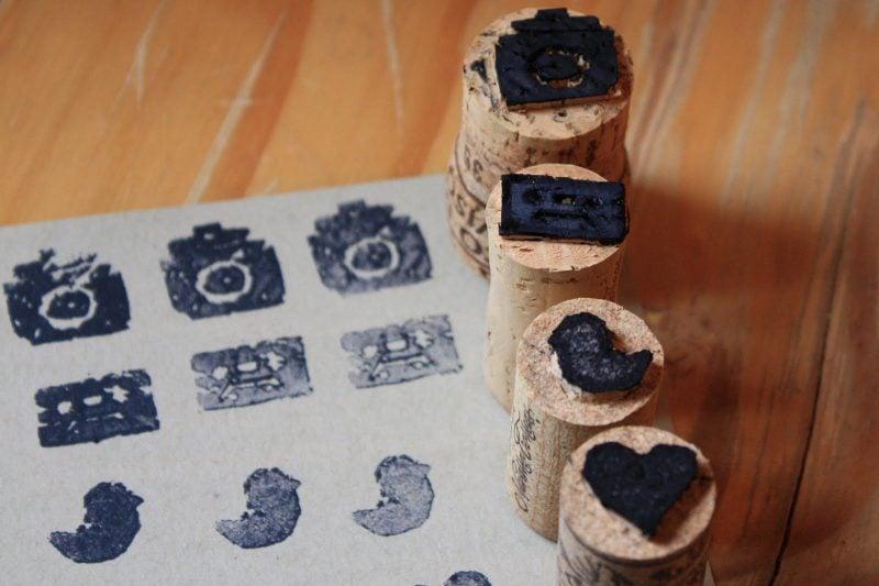 DIY Stempel selber machen mit Kork