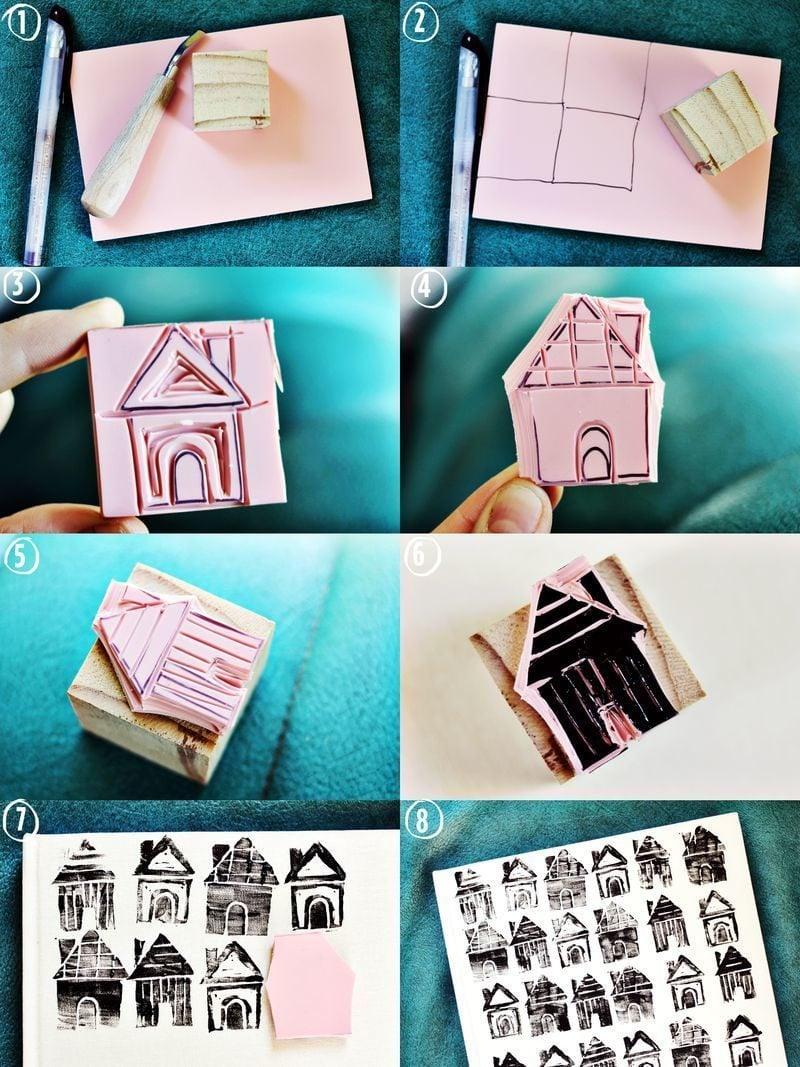 Stempel selber machen Haus