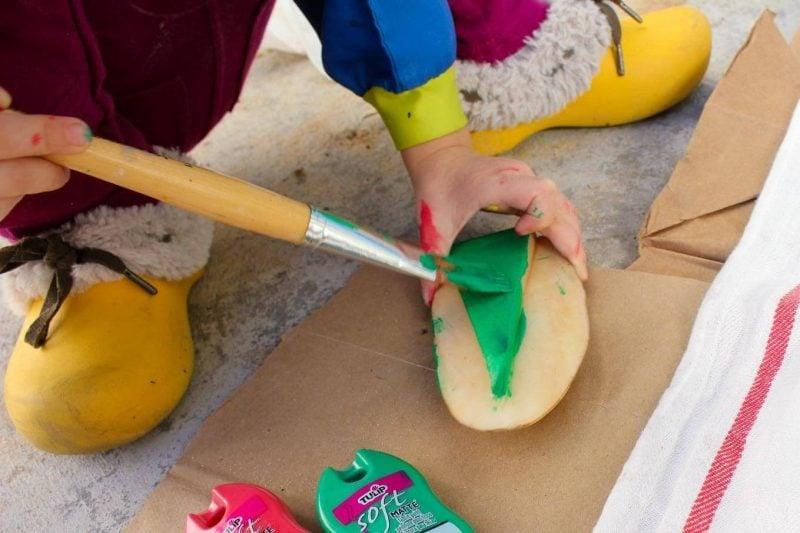 Stempel selber machen DIY Deko mit Kartoffeln Anleitung