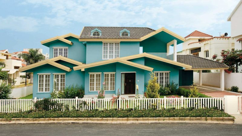 Türkis Fassadenfarbe