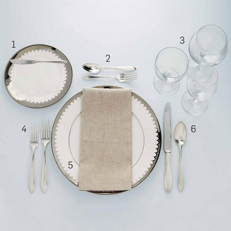 Tisch eindecken festlich Anleitung