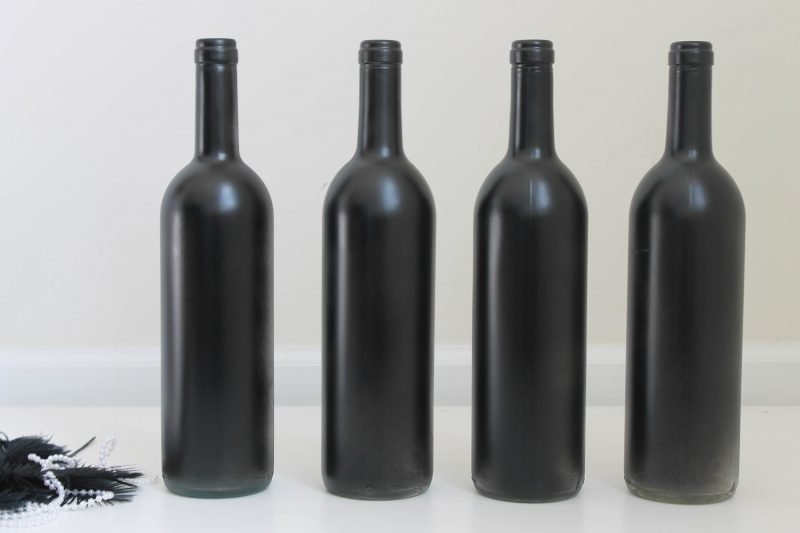 DIY Anleitung für Silvesterdeko mit Weinflaschen