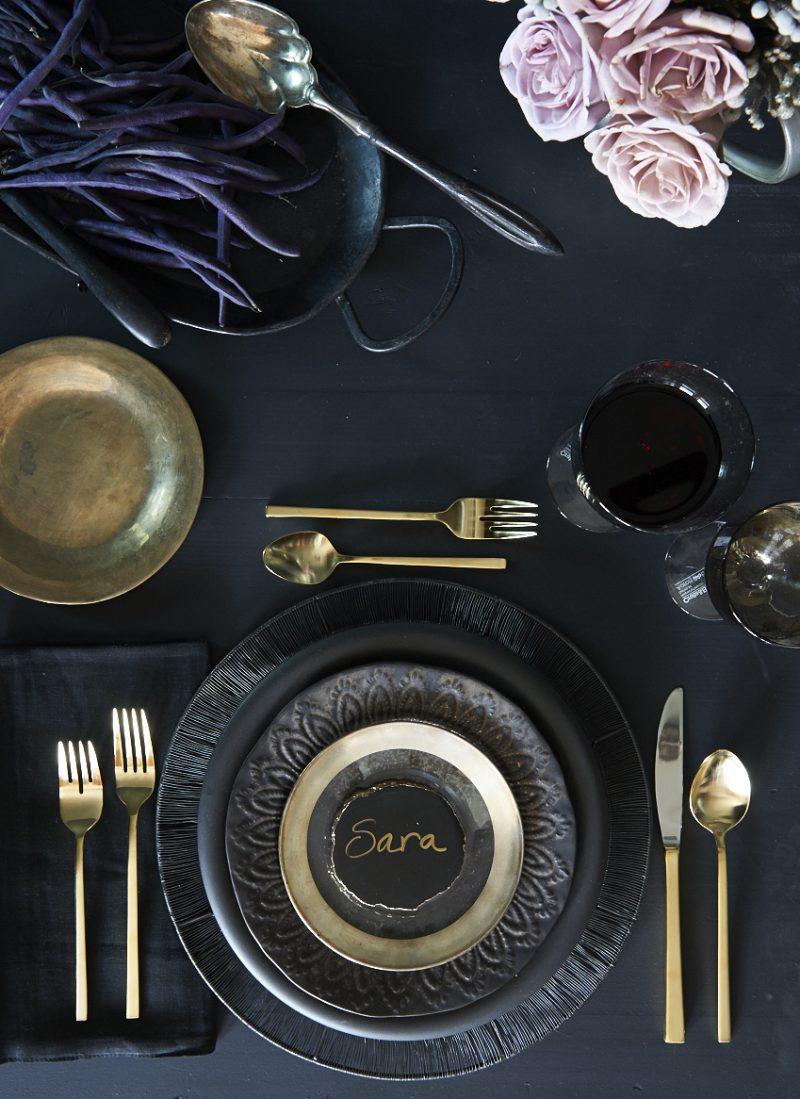 Silvester Tisch eindecken - originelle Dekoration