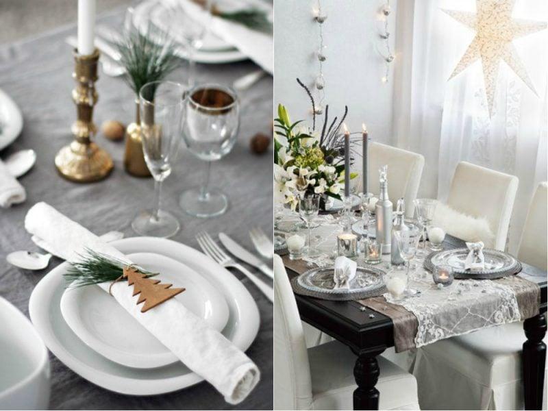 Silvester Tisch eindecken